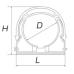 Крепеж-клипса 63 с фиксатором (кратность 60 шт.) 58616