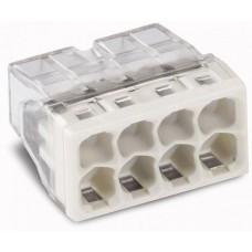 Миниатюрная клемма Wago 2273–208 без контактной пасты 60940 (цена за уп.)